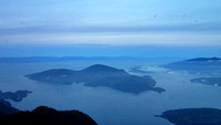 Mouth of Howe Sound from helicopter