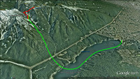 2014-07-13 - North Shore Rescue - Crown Creek Search - Google Earth 3d