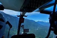 Squamish River Valley from heli flight in