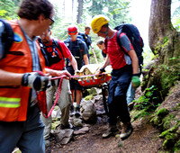 2013-08-01 - North Shore Rescue - Stretcher Carry off First Lake, Seymour